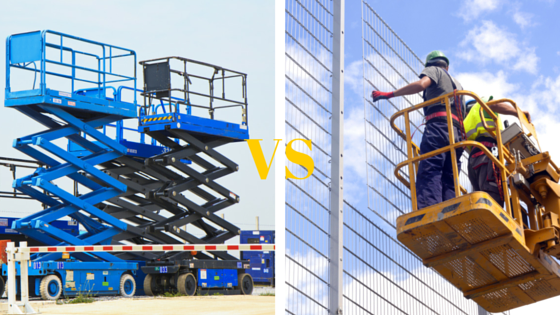 aerial lift vs. scissor lift