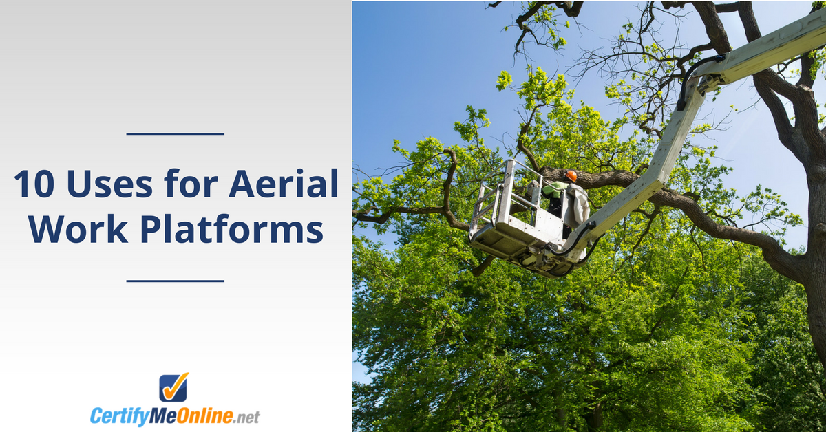 10 uses for aerial work platforms