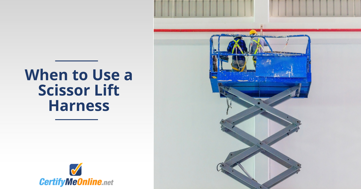 Do you need a harness on a scissor lift? Find out!