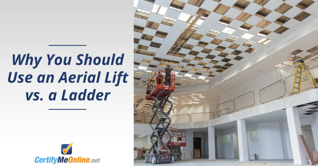 CMO - aerial lifts vs. ladders
