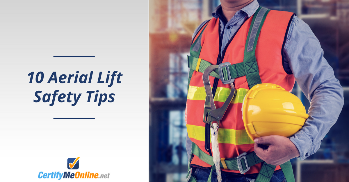 aerial lift safety tips include fall protection