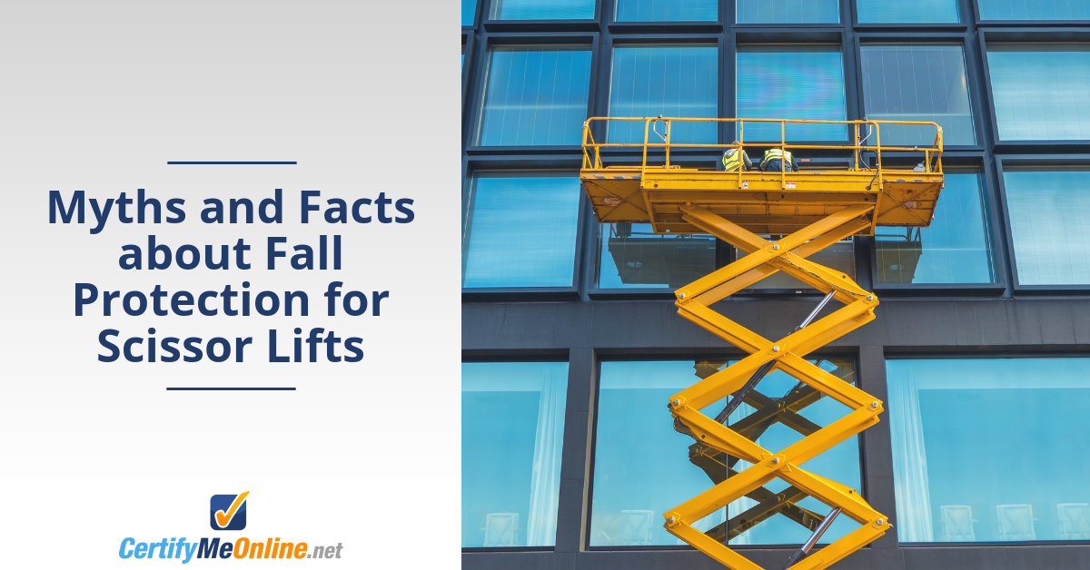 scissor lift fall protection myths
