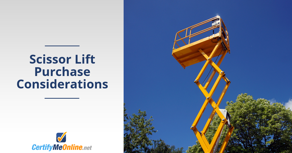 4 Scissor Lift Purchase Considerations You Need to Know
